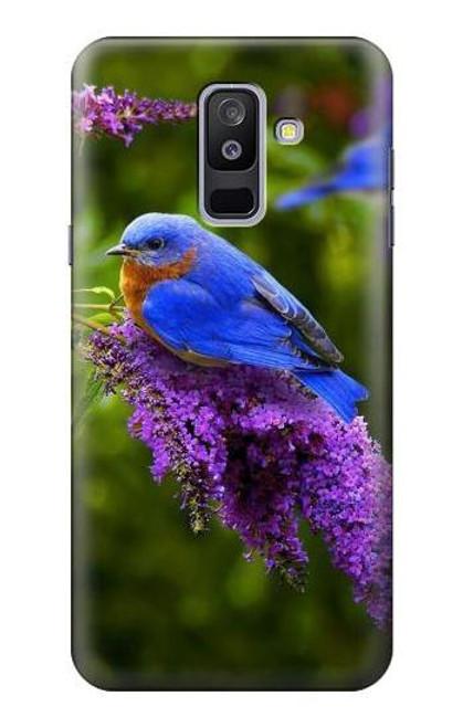 S1565 Bluebird of Happiness Blue Bird Case For Samsung Galaxy A6+ (2018), J8 Plus 2018, A6 Plus 2018