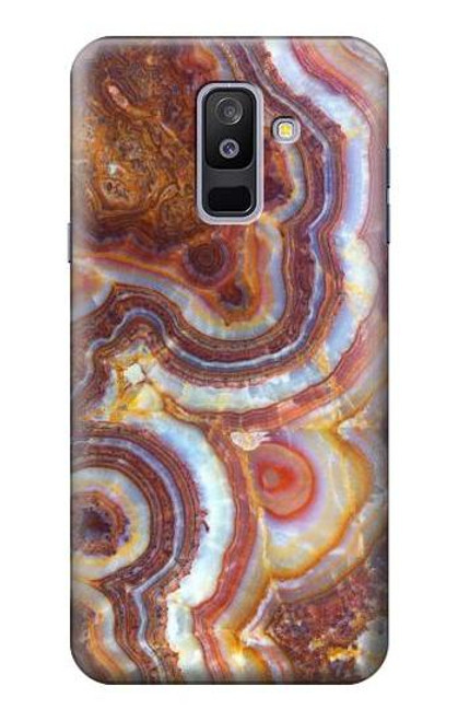 S3034 Colored Marble Texture Printed Case For Samsung Galaxy A6+ (2018), J8 Plus 2018, A6 Plus 2018