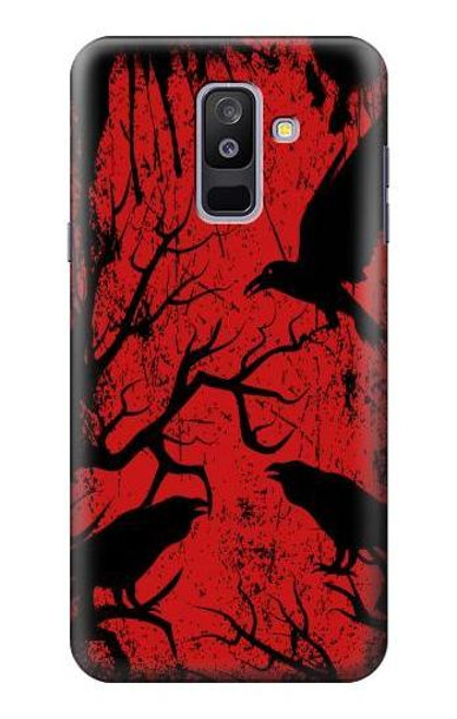 S3325 Crow Black Blood Tree Case For Samsung Galaxy A6+ (2018), J8 Plus 2018, A6 Plus 2018