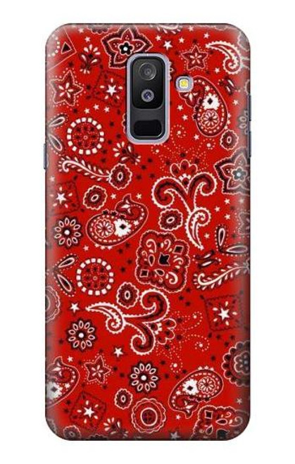 S3354 Red Classic Bandana Case For Samsung Galaxy A6+ (2018), J8 Plus 2018, A6 Plus 2018