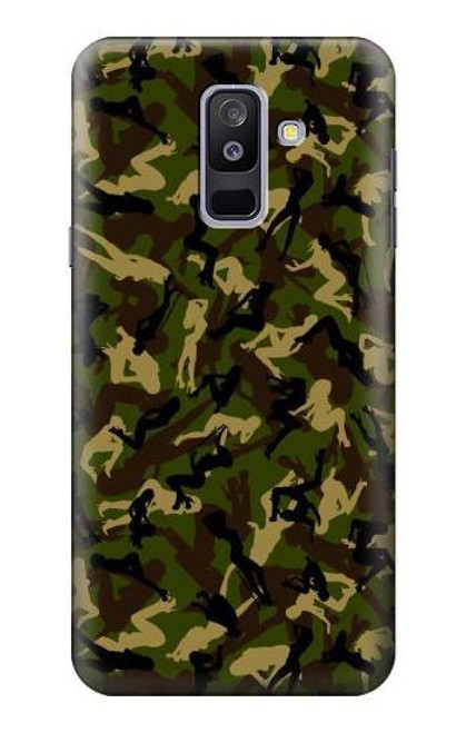 S3356 Sexy Girls Camo Camouflage Case For Samsung Galaxy A6+ (2018), J8 Plus 2018, A6 Plus 2018