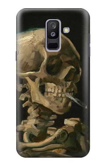 S3358 Vincent Van Gogh Skeleton Cigarette Case For Samsung Galaxy A6+ (2018), J8 Plus 2018, A6 Plus 2018