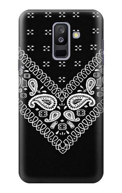 S3363 Bandana Black Pattern Case For Samsung Galaxy A6+ (2018), J8 Plus 2018, A6 Plus 2018