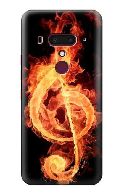 S0493 Music Note Burn Case For HTC U12+, HTC U12 Plus