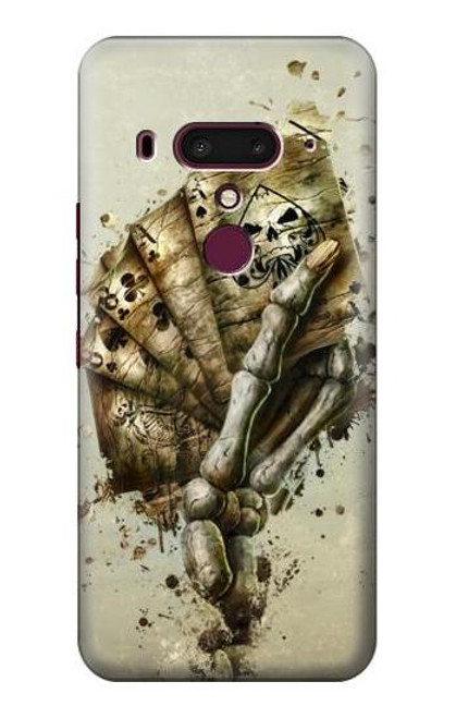 S0550 Skull Card Poker Case For HTC U12+, HTC U12 Plus