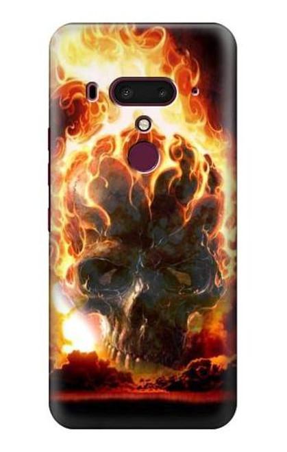 S0863 Hell Fire Skull Case For HTC U12+, HTC U12 Plus