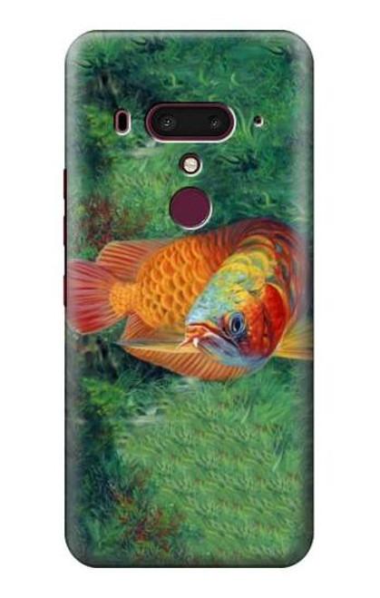 S1157 Red Arowana Fish Case For HTC U12+, HTC U12 Plus