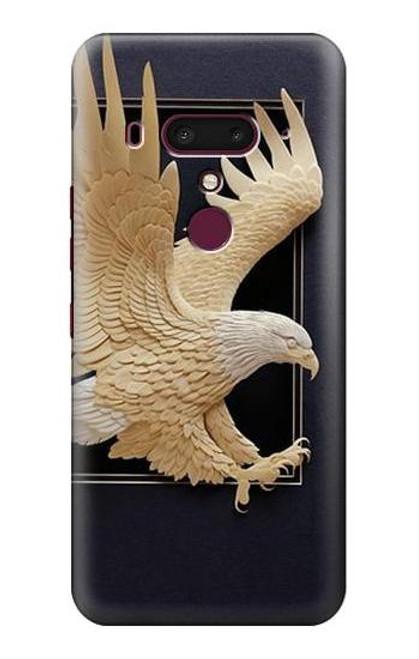 S1383 Paper Sculpture Eagle Case For HTC U12+, HTC U12 Plus