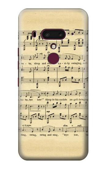 S2504 Vintage Music Sheet Case For HTC U12+, HTC U12 Plus