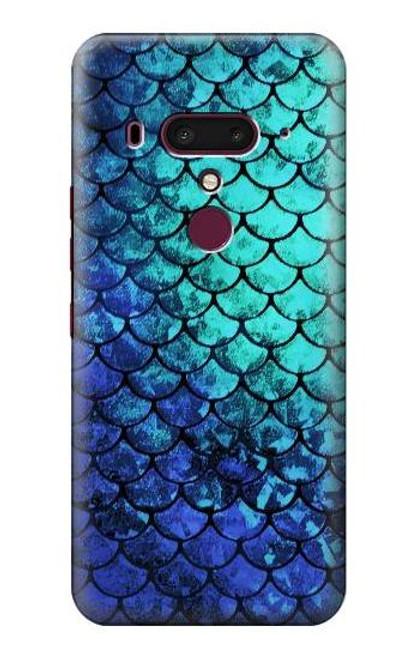 S3047 Green Mermaid Fish Scale Case For HTC U12+, HTC U12 Plus