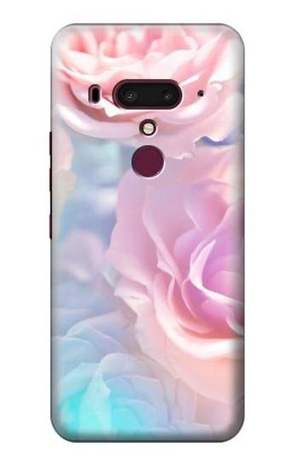 S3050 Vintage Pastel Flowers Case For HTC U12+, HTC U12 Plus
