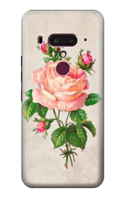 S3079 Vintage Pink Rose Case For HTC U12+, HTC U12 Plus