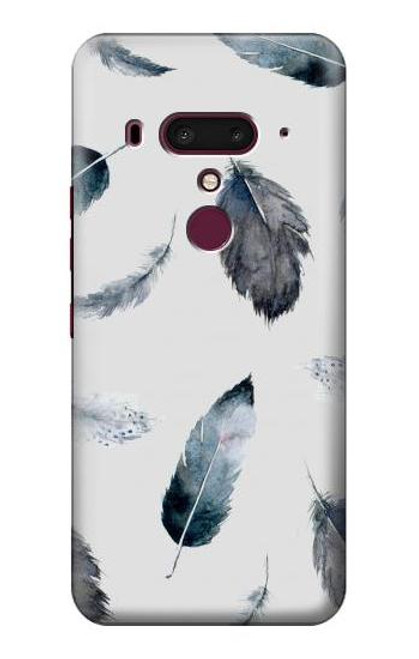 S3085 Feather Paint Pattern Case For HTC U12+, HTC U12 Plus