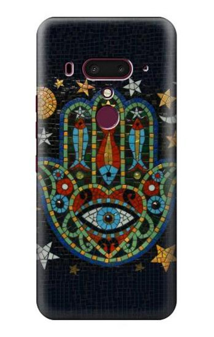 S3175 Hamsa Hand Mosaics Case For HTC U12+, HTC U12 Plus