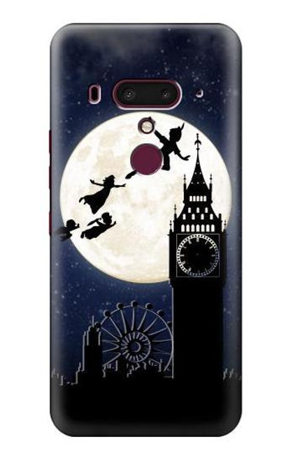S3249 Peter Pan Fly Full Moon Night Case For HTC U12+, HTC U12 Plus