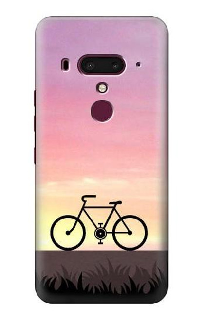 S3252 Bicycle Sunset Case For HTC U12+, HTC U12 Plus