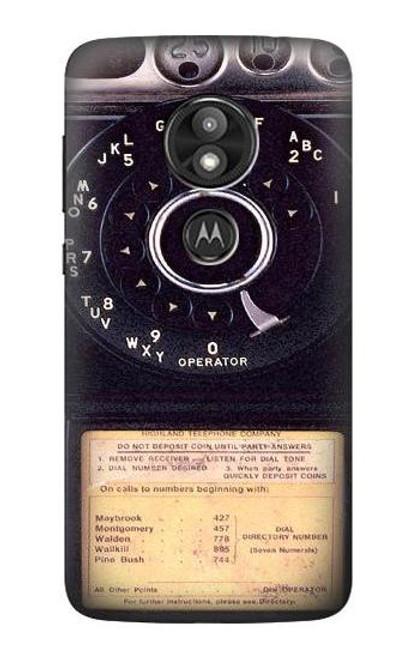 S0086 Payphone Vintage Case For Motorola Moto E Play (5th Gen.), Moto E5 Play, Moto E5 Cruise (E5 Play US Version)