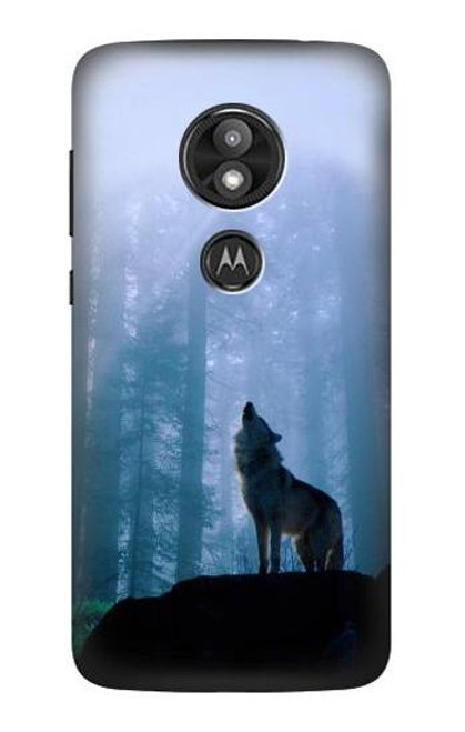 S0935 Wolf Howling in Forest Case For Motorola Moto E Play (5th Gen.), Moto E5 Play, Moto E5 Cruise (E5 Play US Version)
