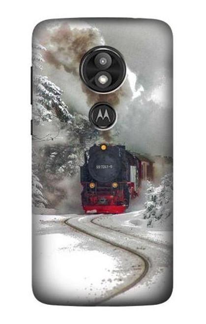 S1509 Steam Train Case For Motorola Moto E Play (5th Gen.), Moto E5 Play, Moto E5 Cruise (E5 Play US Version)