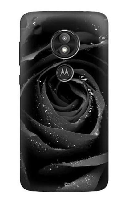 S1598 Black Rose Case For Motorola Moto E Play (5th Gen.), Moto E5 Play, Moto E5 Cruise (E5 Play US Version)