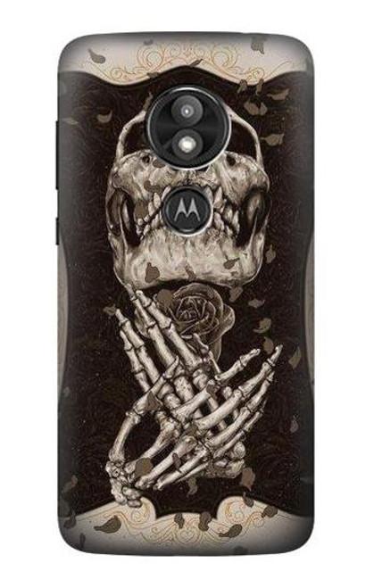 S1676 Skull Rose Case For Motorola Moto E Play (5th Gen.), Moto E5 Play, Moto E5 Cruise (E5 Play US Version)