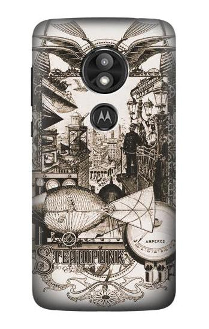 S1681 Steampunk Drawing Case For Motorola Moto E Play (5th Gen.), Moto E5 Play, Moto E5 Cruise (E5 Play US Version)