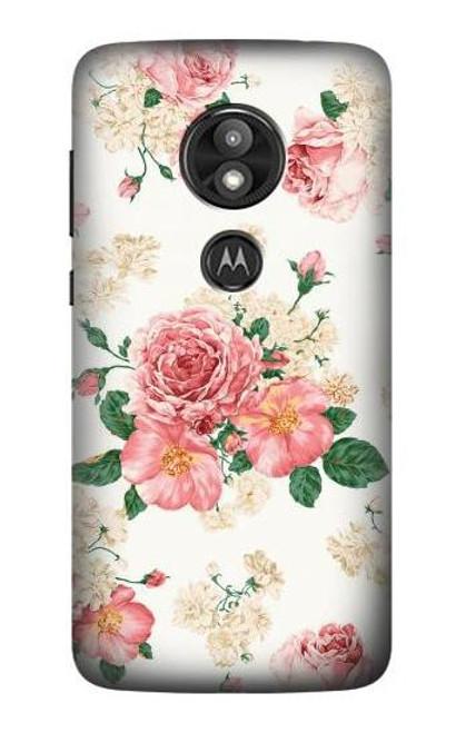 S1859 Rose Pattern Case For Motorola Moto E Play (5th Gen.), Moto E5 Play, Moto E5 Cruise (E5 Play US Version)