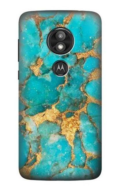 S2906 Aqua Turquoise Stone Case For Motorola Moto E Play (5th Gen.), Moto E5 Play, Moto E5 Cruise (E5 Play US Version)