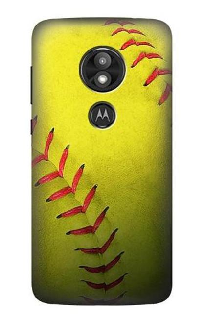 S3031 Yellow Softball Ball Case For Motorola Moto E Play (5th Gen.), Moto E5 Play, Moto E5 Cruise (E5 Play US Version)