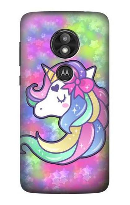 S3264 Pastel Unicorn Case For Motorola Moto E Play (5th Gen.), Moto E5 Play, Moto E5 Cruise (E5 Play US Version)