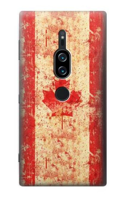 S1603 Canada Flag Old Vintage Case For Sony Xperia XZ2 Premium
