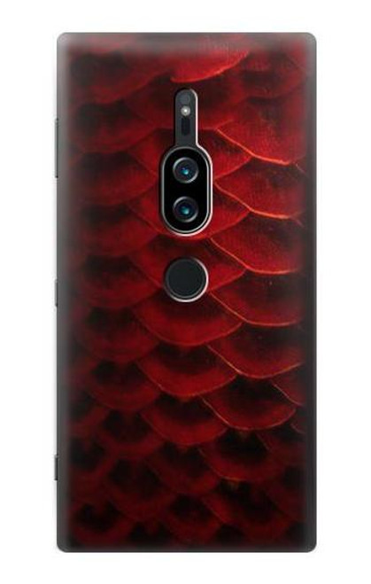 S2879 Red Arowana Fish Scale Case For Sony Xperia XZ2 Premium