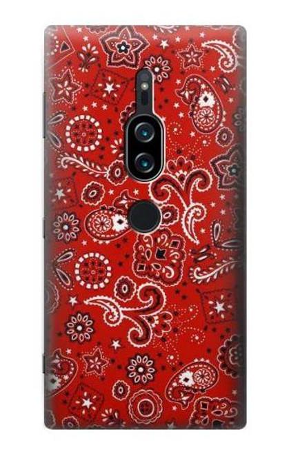 S3354 Red Classic Bandana Case For Sony Xperia XZ2 Premium