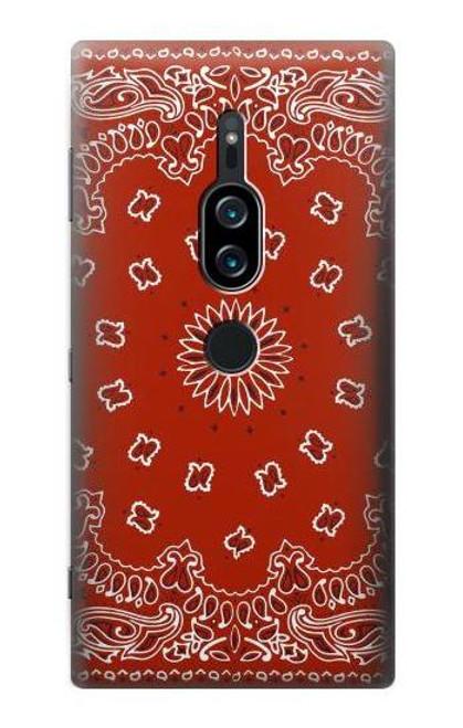 S3355 Bandana Red Pattern Case For Sony Xperia XZ2 Premium