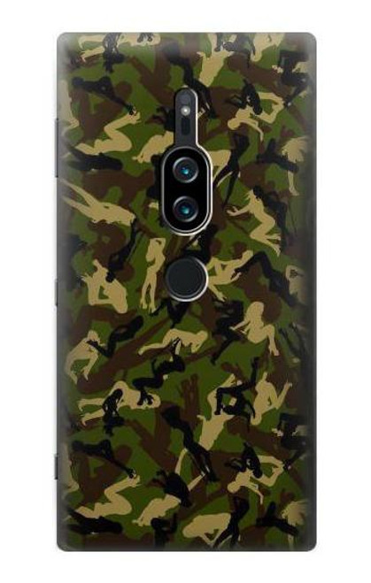 S3356 Sexy Girls Camo Camouflage Case For Sony Xperia XZ2 Premium