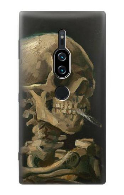 S3358 Vincent Van Gogh Skeleton Cigarette Case For Sony Xperia XZ2 Premium