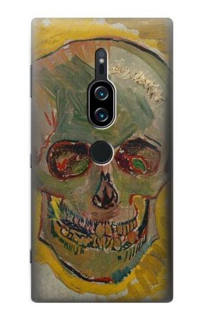 S3359 Vincent Van Gogh Skull Case For Sony Xperia XZ2 Premium