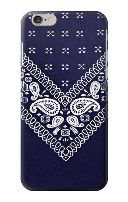 S3357 Navy Blue Bandana Pattern Case For iPhone 6 6S
