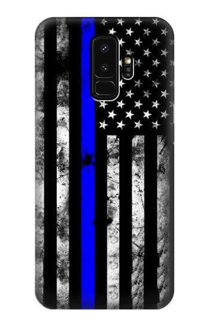 S3244 Thin Blue Line USA Case For Samsung Galaxy S9 Plus