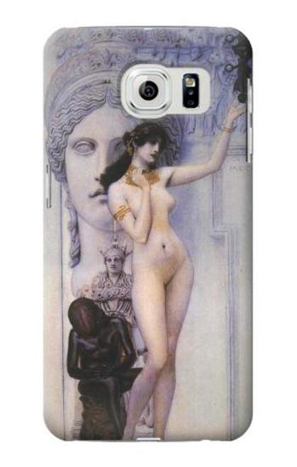 S3353 Gustav Klimt Allegory of Sculpture Case For Samsung Galaxy S6
