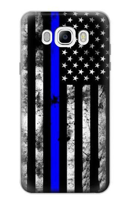 S3244 Thin Blue Line USA Case For Samsung Galaxy J7 (2016)