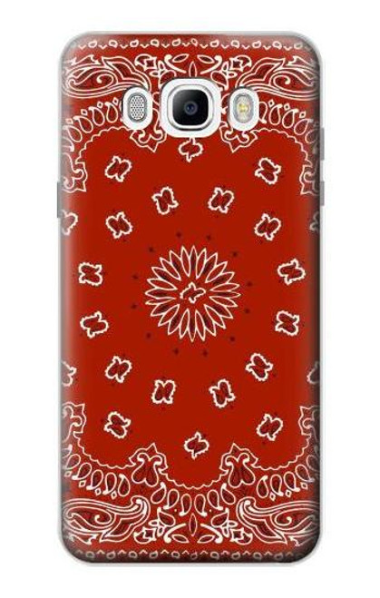 S3355 Bandana Red Pattern Case For Samsung Galaxy J7 (2016)
