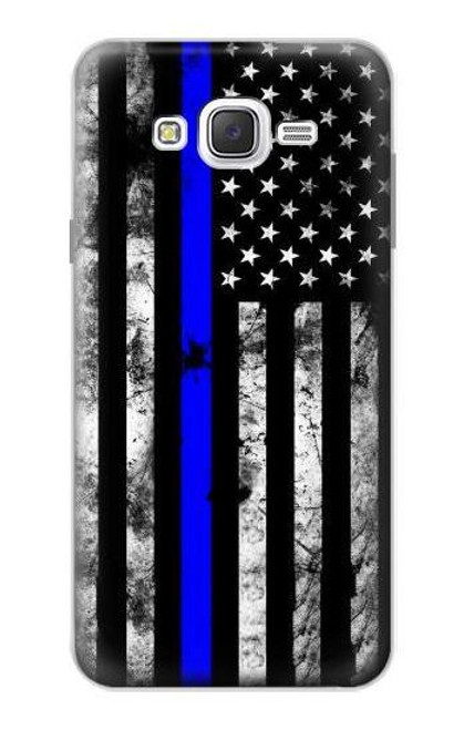 S3244 Thin Blue Line USA Case For Samsung Galaxy J7