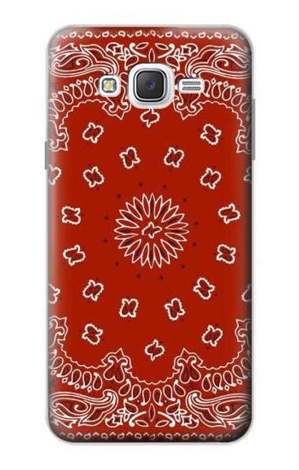 S3355 Bandana Red Pattern Case For Samsung Galaxy J7