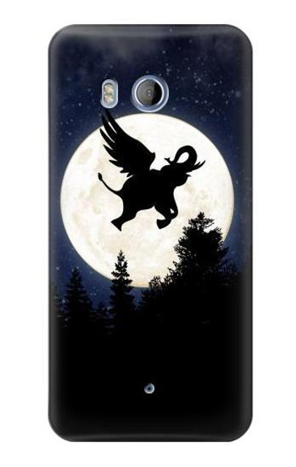 S3323 Flying Elephant Full Moon Night Case For HTC U11