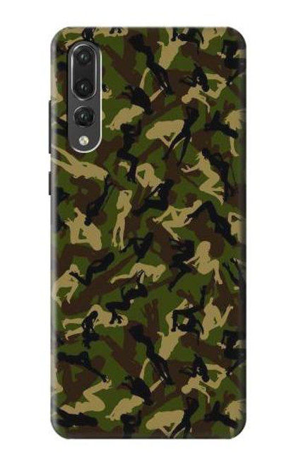 S3356 Sexy Girls Camo Camouflage Case For Huawei P20 Pro