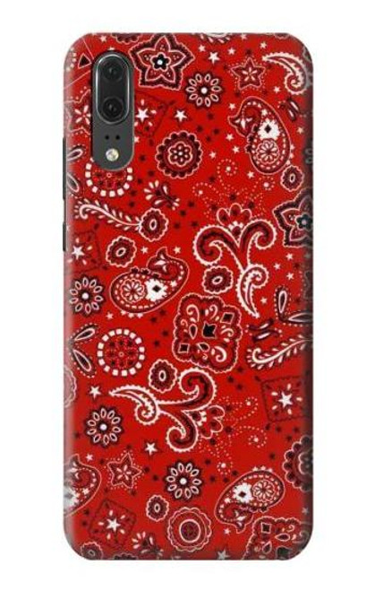 S3354 Red Classic Bandana Case For Huawei P20