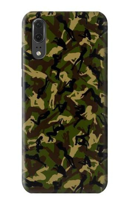S3356 Sexy Girls Camo Camouflage Case For Huawei P20