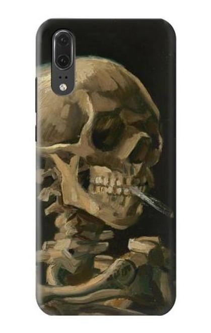 S3358 Vincent Van Gogh Skeleton Cigarette Case For Huawei P20