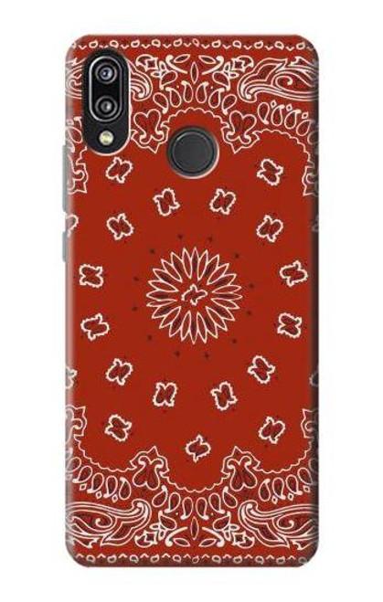 S3355 Bandana Red Pattern Case For Huawei P20 Lite